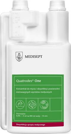Quatrodes® One - Concentrate for cleaning and disinfecting surfaces of non-invasive medical devices, 1 L